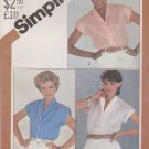Simplicity Sewing Pattern 5451 Misses Size 18 Button Front Blouse Tops Shirt