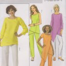 Butterick Sewing Pattern 4554 B4554 Misses Size 8-14 Easy Pullover Tunic Top Straight Leg Pants