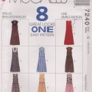 McCall's Sewing Pattern 7240 M7240 Misses Sizes 10-14 Easy Jumpers Jumpsuits