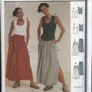 Burda Sewing Pattern 8838 Misses Sizes 10-20 Gathered Skirt Sleeveless Top Belt