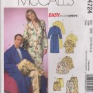 "McCall's Sewing Pattern M4724 4724 Misses Mens Unisex Chest Size 34-44"" Easy Unisex Pajamas Bathrobe"