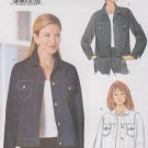 Butterick Sewing Pattern B6376 6376 Misses Size 6-10 Easy Button Front Denim Blue Jean Jacket