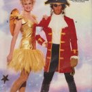 Butterick Sewing Patterns B6376 6376 Misses Mens Sizes XS-XL Costume Pirate Angel