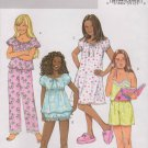 Butterick Sewing Pattern B4383 4383 Girls Sizes 12-16 Easy Top Pants Bloomers Gown Shorts Pajamas