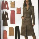 Simplicity Sewing Pattern 4791 Misses Size 4-10 Easy Wardrobe Coat Jacket Top Pants Skirt