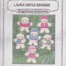 Gingerbread Ornaments Counted Cross Stitch CCS Kit Laura Doyle Designs T55787