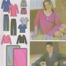 Simplicity Sewing Pattern 4957 Misses Mens XS-M Easy  Pajamas Pants Tops Nightshirt Blanket