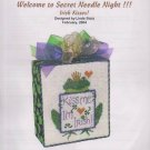 The Silver Needle Irish Kisses! Linda Stolz Counted Cross Stitch Embroidery Kit