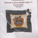 The Silver Needle Tea Is For Teacher Linda Stolz Counted Cross Stitch Embroidery Kit
