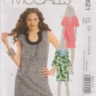 McCall's Sewing Pattern M5621 5621 Misses Sizes 10-18 Loose Fitting Dress Sleeve Options