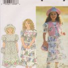 Simplicity Sewing Pattern 7171 Girls' Sizes 5-6-6X Dress Vest Hat Purse