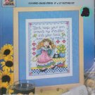 Hand Over Mouth Counted Cross Stitch CCS Kit 8 x 10 Design Works #2027 Joan Elliott