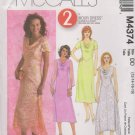 McCall's Sewing Pattern M4374 4374 Misses Size 12-18 2-Hour A-Line Cowl Neck Layered Dress