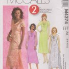 McCall's Sewing Pattern M4374 4374 Misses Size 6-12 2-Hour A-Line Cowl Neck Layered Dress