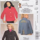 McCall's Sewing Pattern 5763 M5763 Misses Size 8-16 Jackets Nancy Zieman Embroidery