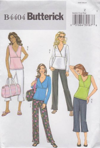 Butterick Sewing Pattern B4404 4404 Misses Size 16-22 Easy Pullover Knit Top Cropped Pants Totebag