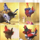 Butterick Sewing Pattern B4252 4252 Soft Sculpture Roosters Chickens Decorations