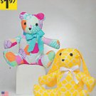 "Simplicity Sewing Pattern A1191 1191 Stuffed 14"" Rabbit Bear"