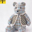"Simplicity Sewing Pattern A2115 2115 Stuffed 18"" Easy Bear Vest OOP"