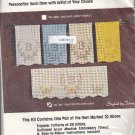 Progress Pillowcases Stamped Cross Stitch #301 Monogram Floss NEW