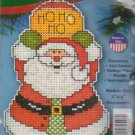 "Design Works HO HO HO Santa 3"" x 4"" Ornament Counted Cross Stitch Kit 559 Plastic Canvas"