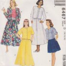 McCall's Sewing Pattern M6467 6467 Misses Sizes 12-16 Top Split Skirt Shorts