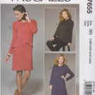 McCall's Sewing Pattern 7655 M7655 Womens Plus Size 18W-24W Tunic Dress Overlay