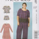 McCall's Sewing Pattern 7697 M7697 Womens Plus Size 18W-24W Easy Tops Dress Shorts Pants