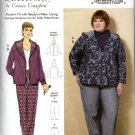 Butterick Sewing Pattern 6533 B6533 Misses Size 3-16 Zipper Front Hooded Jacket Pants
