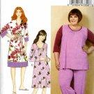 Butterick Sewing Pattern 6532 B6532 Womens Plus Size 26W-32W Robe Top Pants Dress Gown