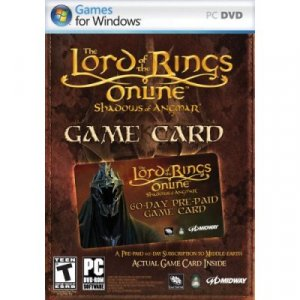 Lord of the Rings Shadows of Angmar Prepaid 60-Day Game Time Card