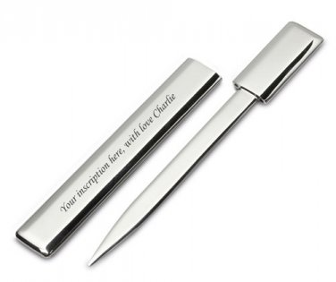 STYLISH AND MODERN PERSONALISED LETER OPNER IN SHEATH