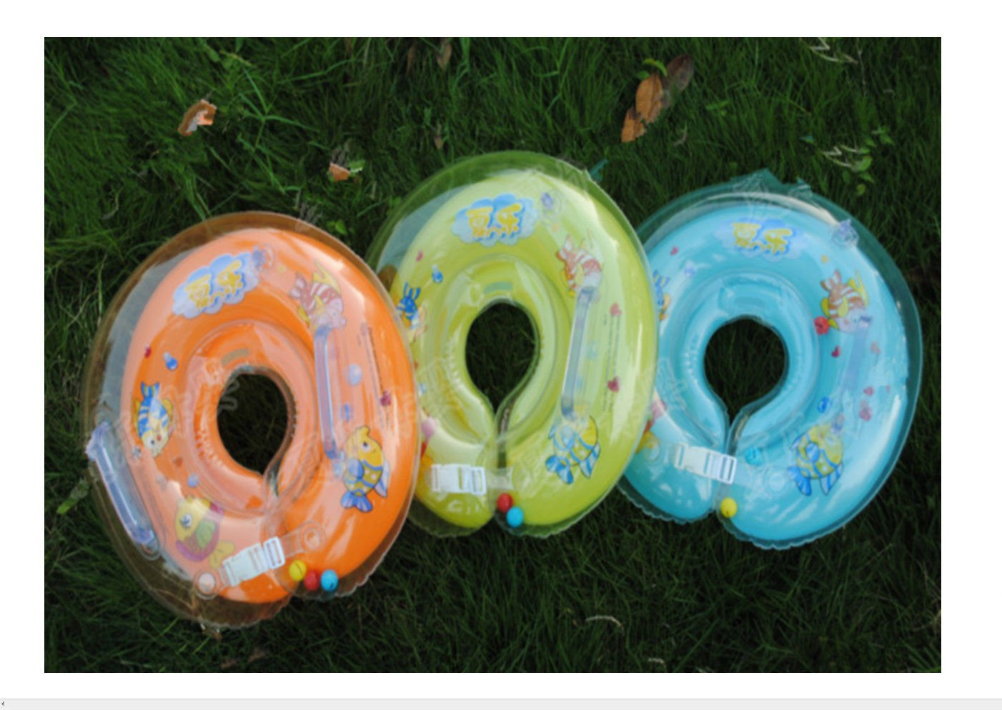 Baby Babies Aids Safety Infant Swimming Air Neck Float Ring Free Shipping