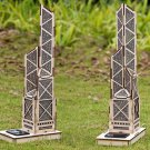 DIY 3D Solar Puzzle Wooden Toys Assemble Toys for Hong Kong Bank of China Tower