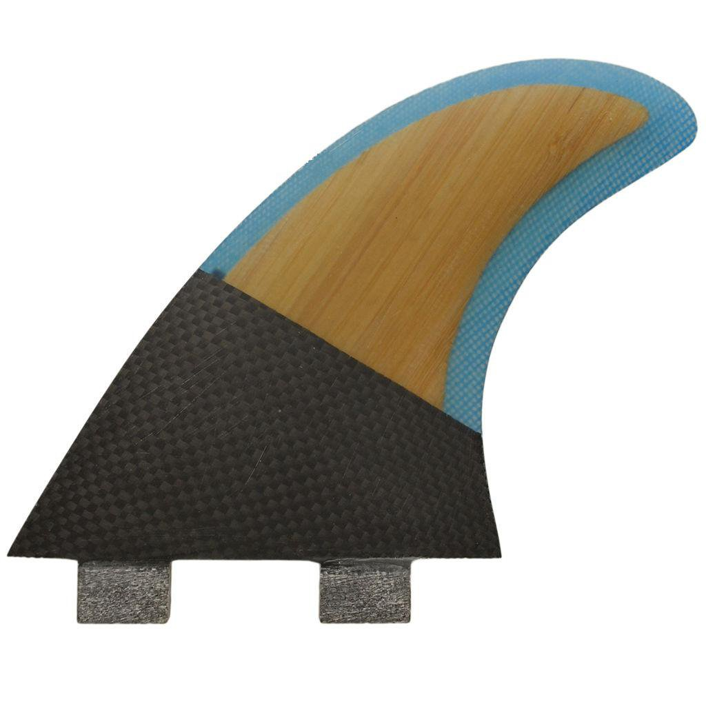 High Performance Core FCS PC-5 PC5 Bamboo fiberglass Blue Surfboard fins 3pcs