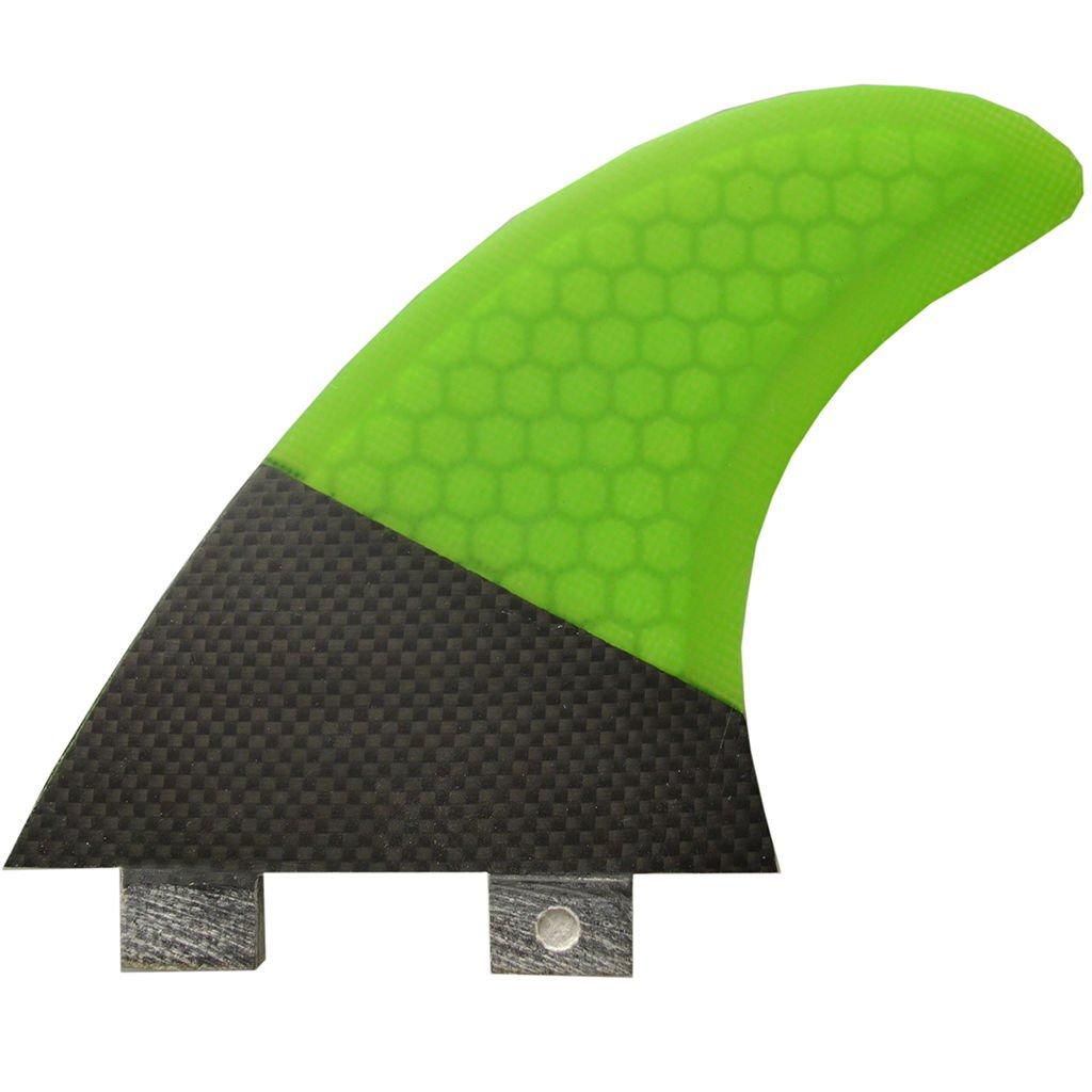 3pcs Green Black Fiberglass Thruster FCS MR-TFXPC G5 TFXPC Size Surfboard fins Fin