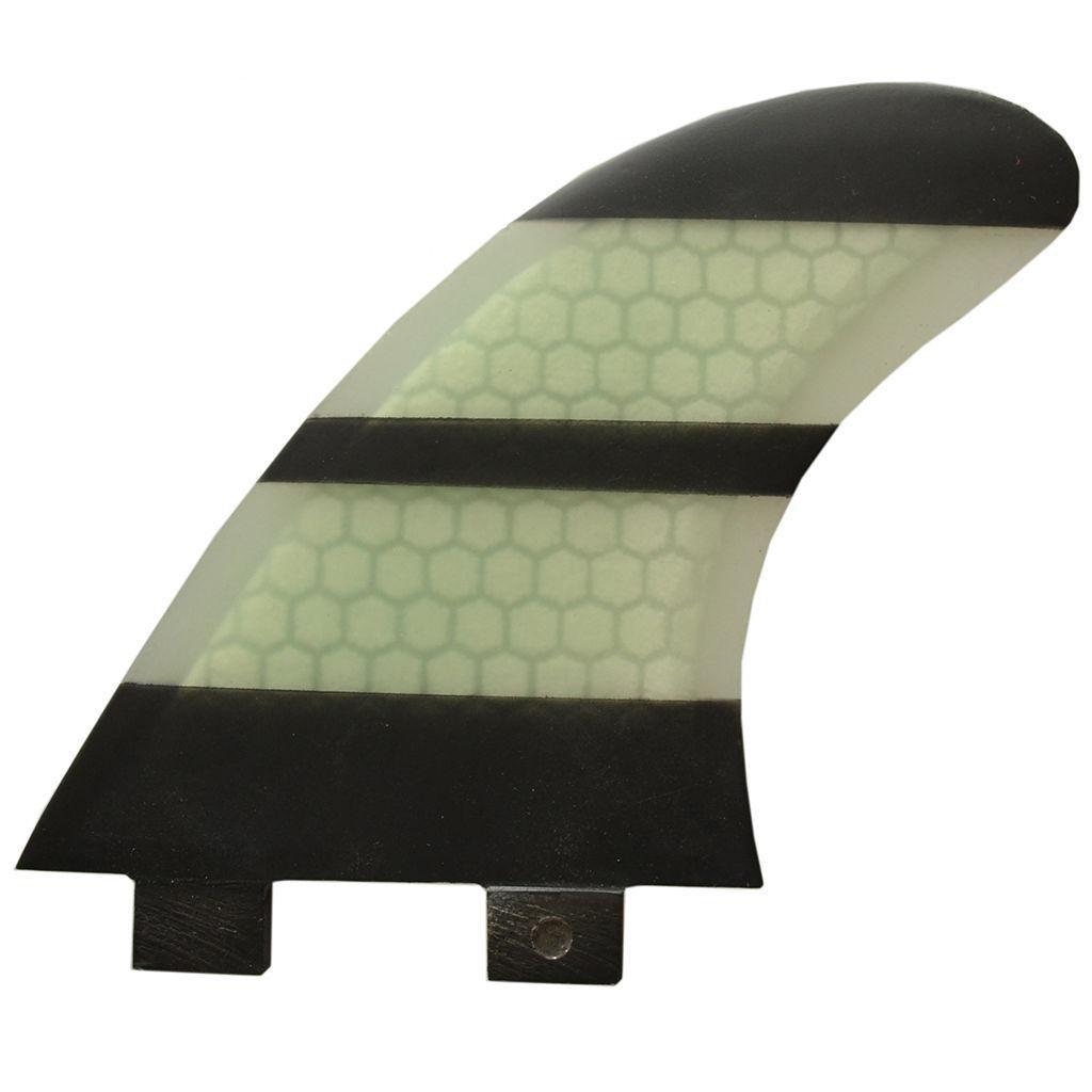 High Performance Core FCS Compatible M Size Fiberglass Fins Honeycomb Tri Fin Set