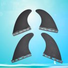 BLACK Color Quad Set Surfboards Fins Water Surf board Fin G5 SIZE
