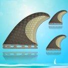 Water Beach BASE Half Carbon Light Hard G5 Size Surfboard Fins Fin 3 pcs Set