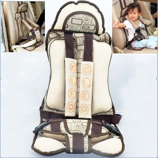 Good Quality Child Kids Car Safety Belt Seat Cushion Coffee Color Thick Cushions