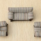 The Model Material Indoor Scene Decoration Stripe Sofa Set 1:25