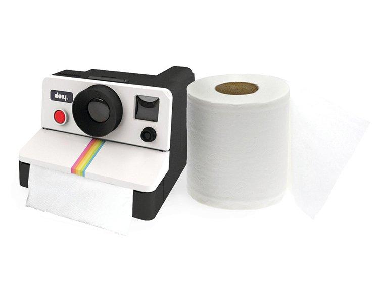 Polaroll Shaped Novelty Polaroid Camera Washing Room Toliet Paper Roll Holder