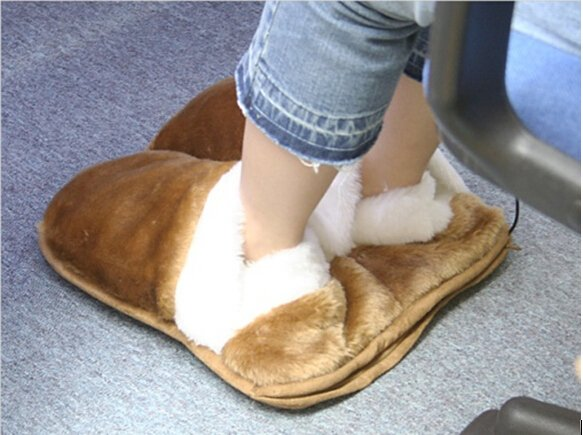 USB Heated Heating Warm Plush Slippers Detachable Cable Footwarmers Foot Warmers