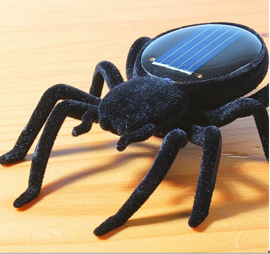 SUPER No need Battery TINY SOLAR POWER QUAKING BLACK WIDOW Vibrate SPIDER