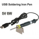 Portable USB 5V 8W SOLDERING Welding IRON Solder PEN KIT with Led Indicator