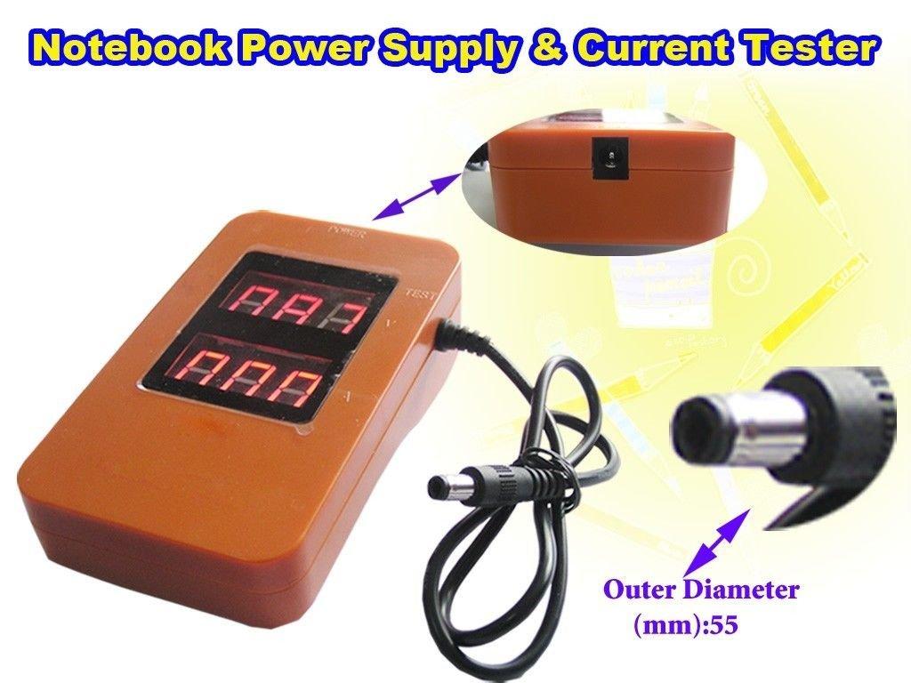 Test PC Notebook Laptop Power Supply Transformer Voltage Current Tester Checker
