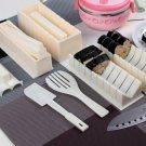 Japan DIY Sushi Shaper Maker Mold Kit 5in1 Set with Fork For Meal Picnic Food