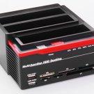 2.5 3.5 Inch 2x SATA Port 1x IDE HDD Docking Station Clone USB HUB Card Reader