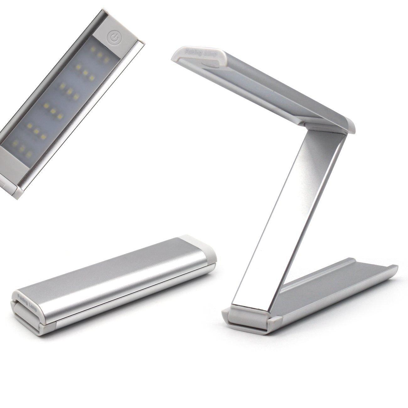 Aluminum Alloy Folding 18 LED Light Desk Light Lamp Rechargable Reading Light