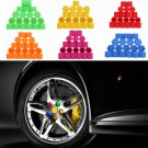 20X Fashion Auto Car Silicone Wheel Nuts Covers Screw DUST Protective Cap 19MM